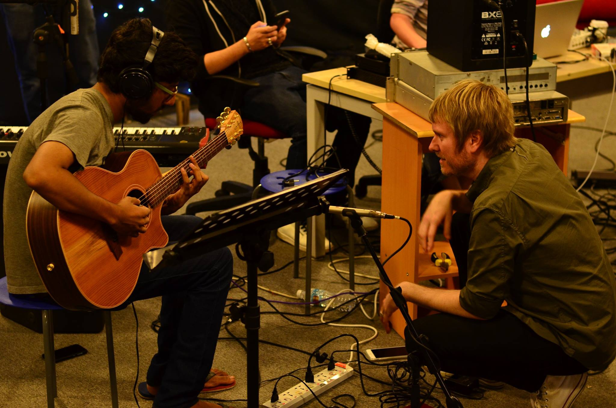 Dan Pratt recording Indie100 artists 2017